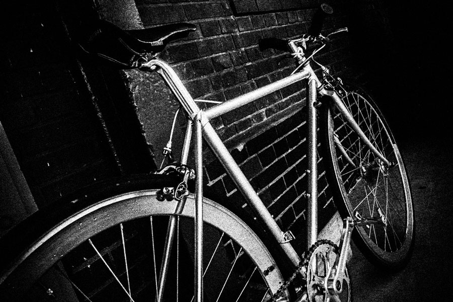 photographs : man with bike : 2